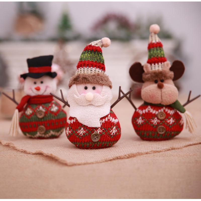 Christmas Plush Doll Pendants Hanging Ornament Christmas Home Decoration