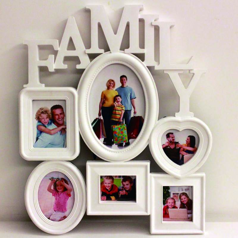Home Decoration Photo Frame Europe Style Creative 6 box Family Combination Photo Frame For Picture 3D Wall Hanging Wedding Gift(China (Mainland))