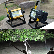50W Waterproof Rechargeable Floodlight 36 LED Flood Light 3 Modes Red/Blue Changing Light For Outdoor Camping Work Light(China (Mainland))