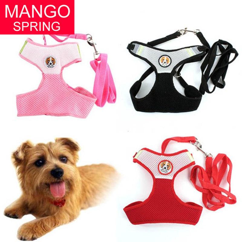 Pet Dog Collars Puppy Cat Leash Vest Mesh Breathe Adjustable Harnes Chest Braces Clothes(China (Mainland))