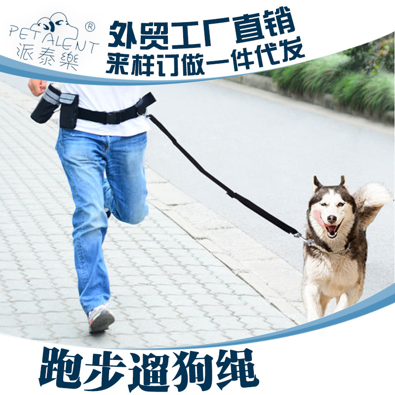 Running dog rope large dogs leashes pet training supplies dog rope chain belt retractor Free Bag Belt(China (Mainland))