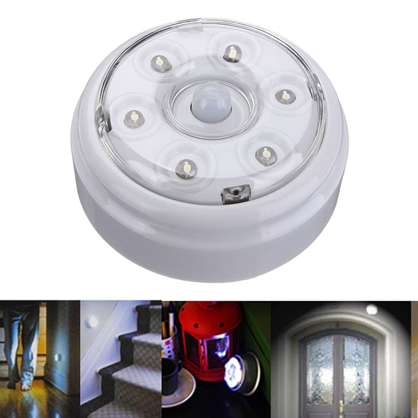 The Best Quality 6 LED Wireless Infrared PIR Auto Sensor Motion Detector Battery Powered Door Wall Light Lamp(China (Mainland))