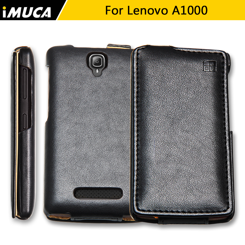 iMUCA Phone case for Lenovo a1000 cover luxury case Lenovo a1000 a 1000 Genuine Vertical Leather cover coque original packing
