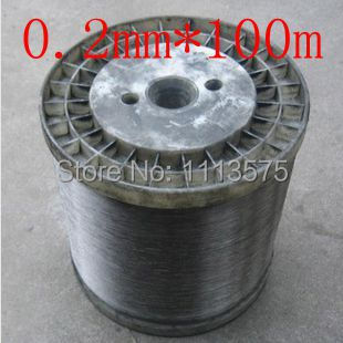 0.2mm diameter,soft condition,100m,304,321,316 stainless steel soft wire, stainless steel wire,bright steel wire,free shipping(China (Mainland))