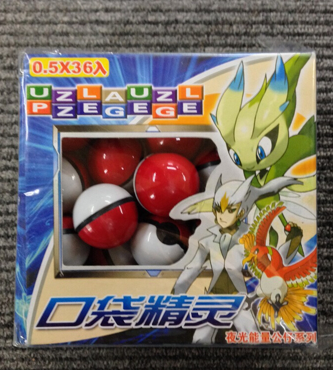 36pcs/lot Cute Pokemon Master Ball Pop-up Poke Ball Mini Mega Model Classic Action Figure Night-luminous Toys (China (Mainland))