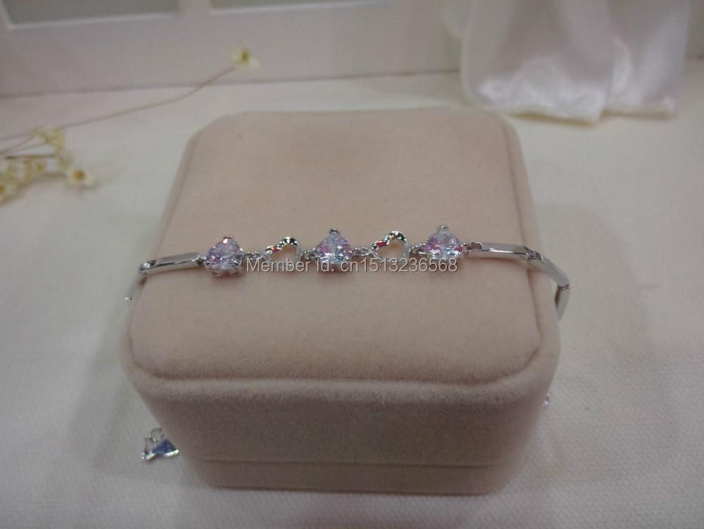 Fashion jewelry, bracelets, 925 silver inlay zircon bracelets products sell like hot cakes(China (Mainland))