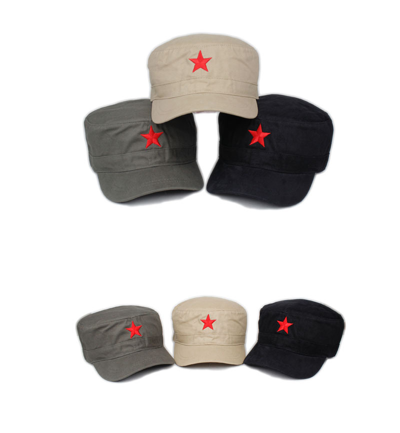Chinese Army military style five-pointed star peaked cap fashion Visors outdoor camping mountain hunting - Anna's holiday store