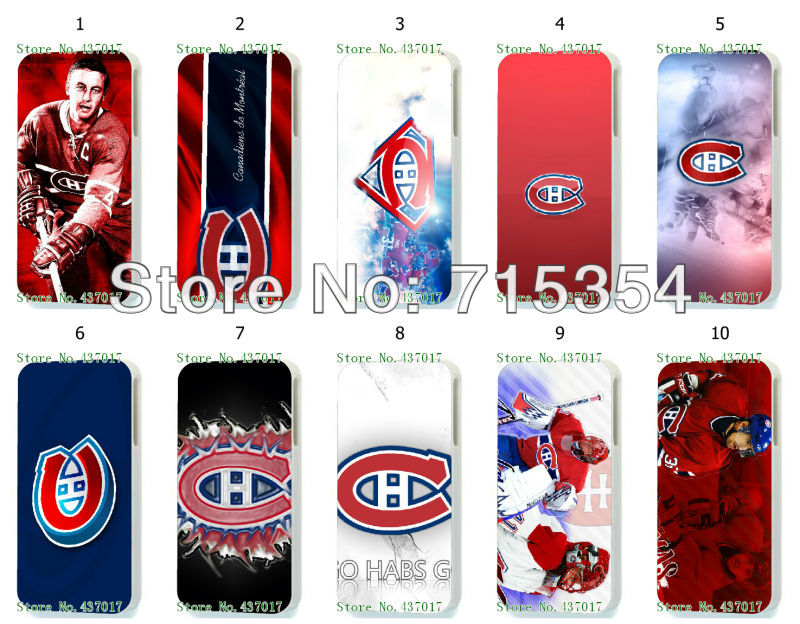 fashion ! New design The Montreal canadians case back cover for iphone4 4th 10pcs/lot(China (Mainland))