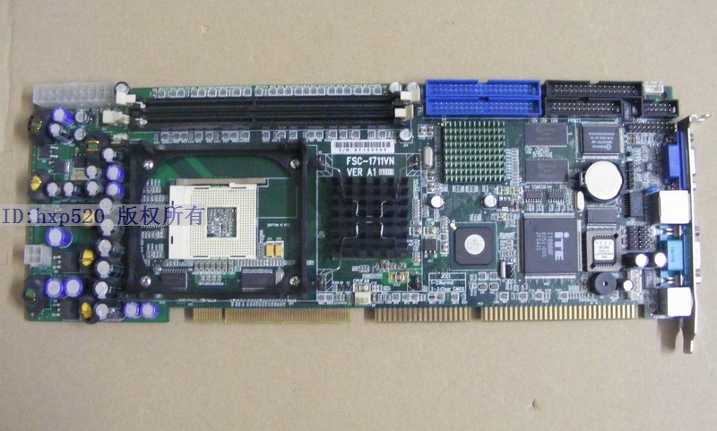 FSC-1711VN VER: A1 Industrial Motherboard P4 IPC full-length card DHL EMS free shipping(China (Mainland))