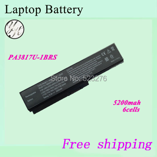6 CELLS 5200mAH Laptop Battery toshiba PA3817U-1BAS PA3817U-1BRS PA3818U-1BRS Satellite L750 L750D - Shenzhen Yeke Century Technology Co., Ltd. store