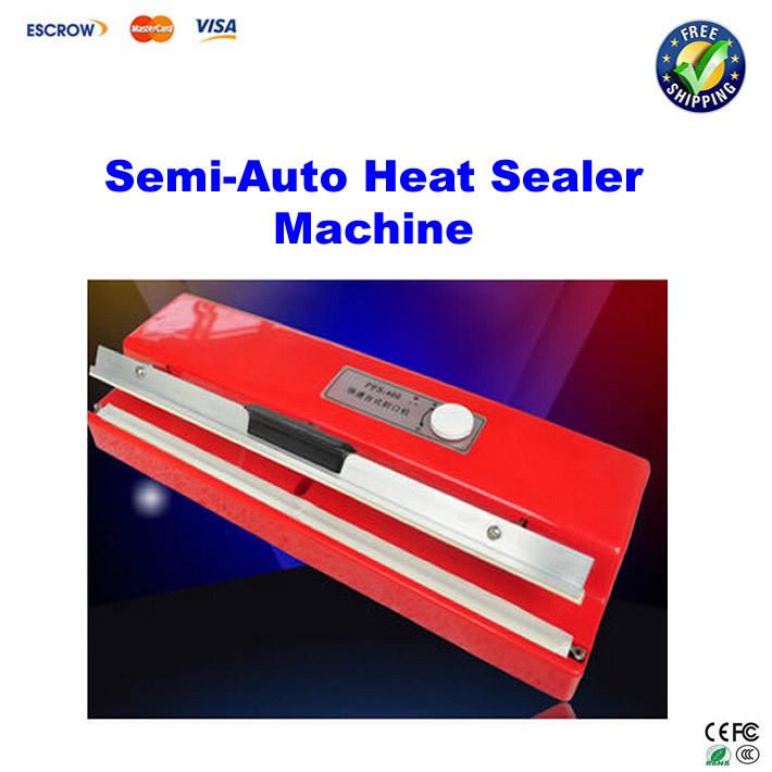 Free shipping!! plastic shell,bag sealer handy equipment, semi-auto Heat Sealer Machine Heat Sealing Machine Sealer(China (Mainland))