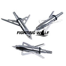 12PCS Hunting Bow Silver Archery Arrow 2 Blade Expandible Broadhead Tip 2 Cut Archery Bowfishing Hunting