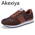 Akexiya Fashion Spring autumn Men Casual Shoes Patchwork Men Falts Walking Shoes Zapatillas Deportivas Hombre Mens
