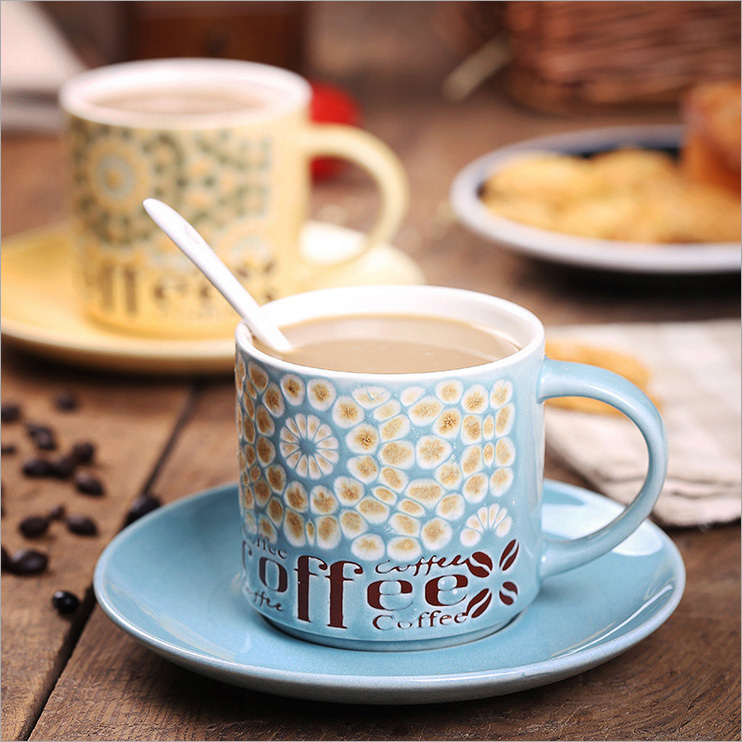 Special hand-painted ceramic coffee cup and saucer suit upscale Chinese porcelain cup / spoon / pot(China (Mainland))