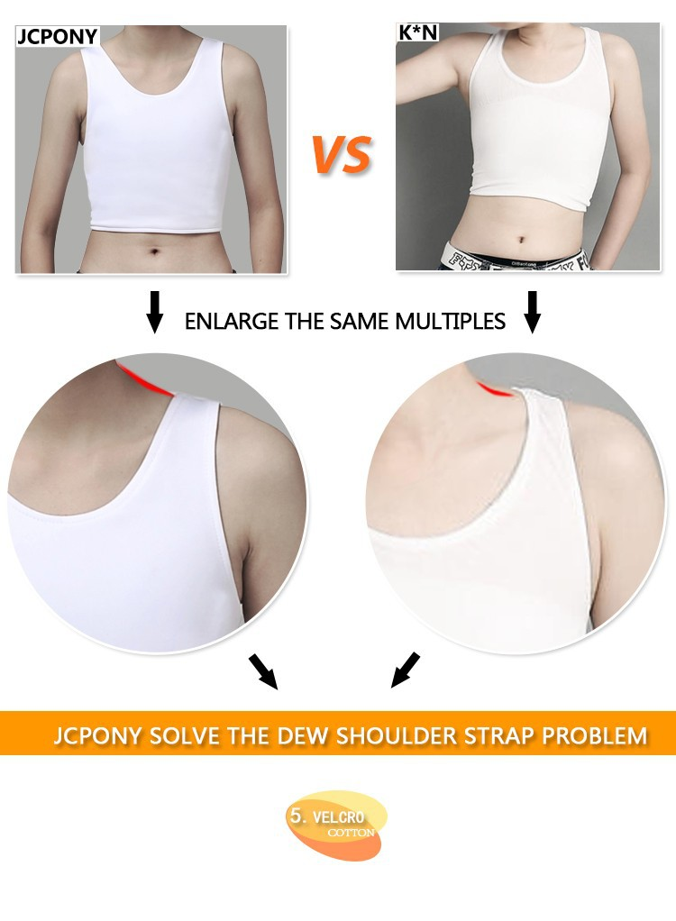 J.C.Pony  Most comfortable Chest Breast Binder for Lesbian Tomboy  Cosplayer tomboy