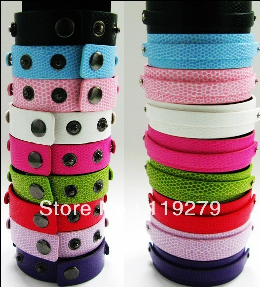 210*18mm with 8mm small belt Copy leather Snake Skin Wristband/Bracelet DIY Accessories Fit for 8mm slide letters slide charms