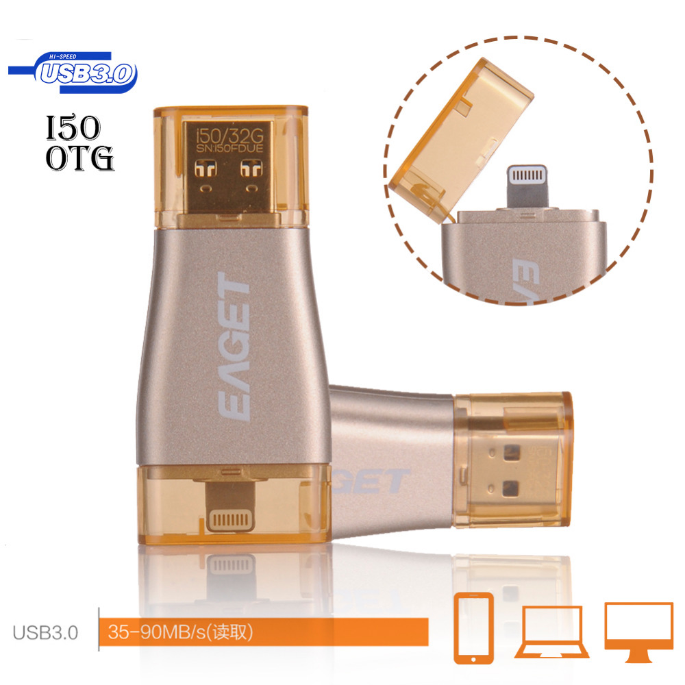 EAGET OTG USB Flash Drive 64GB Pen Drive For Apple iPhone iPad iPod 32GB 64GB 128GB USB Memory Stick Drive Pen Flash Disk Hot(China (Mainland))
