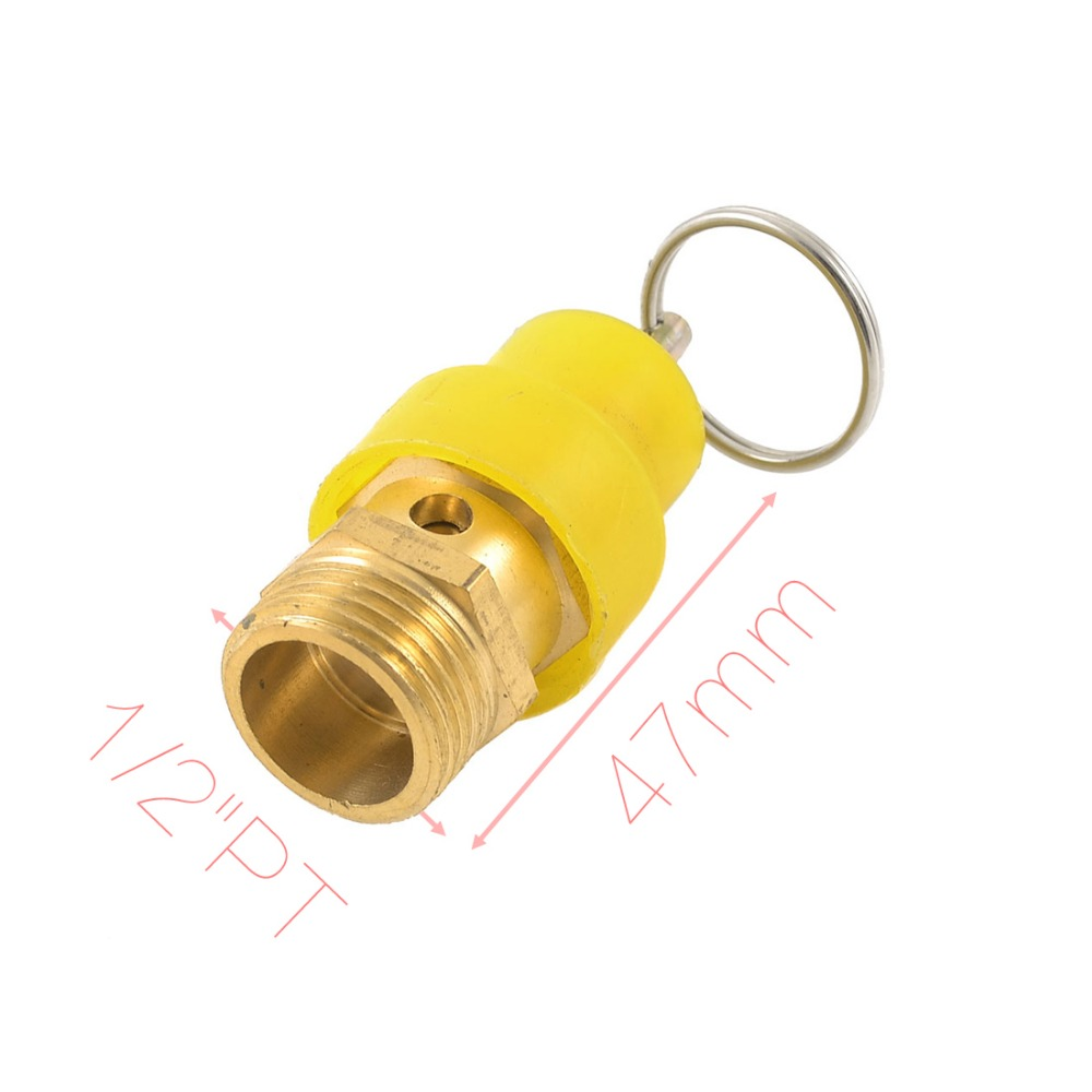 "1/2"" PT Male Thread Air Compressor Pressure Relief Valve + Keyring Discount 50(China (Mainland))"