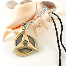 Japan Anime Naruto Kakashi write round eyes Pendant Weave Necklaces Chain Rope Splicing Metal Necklace Fashion