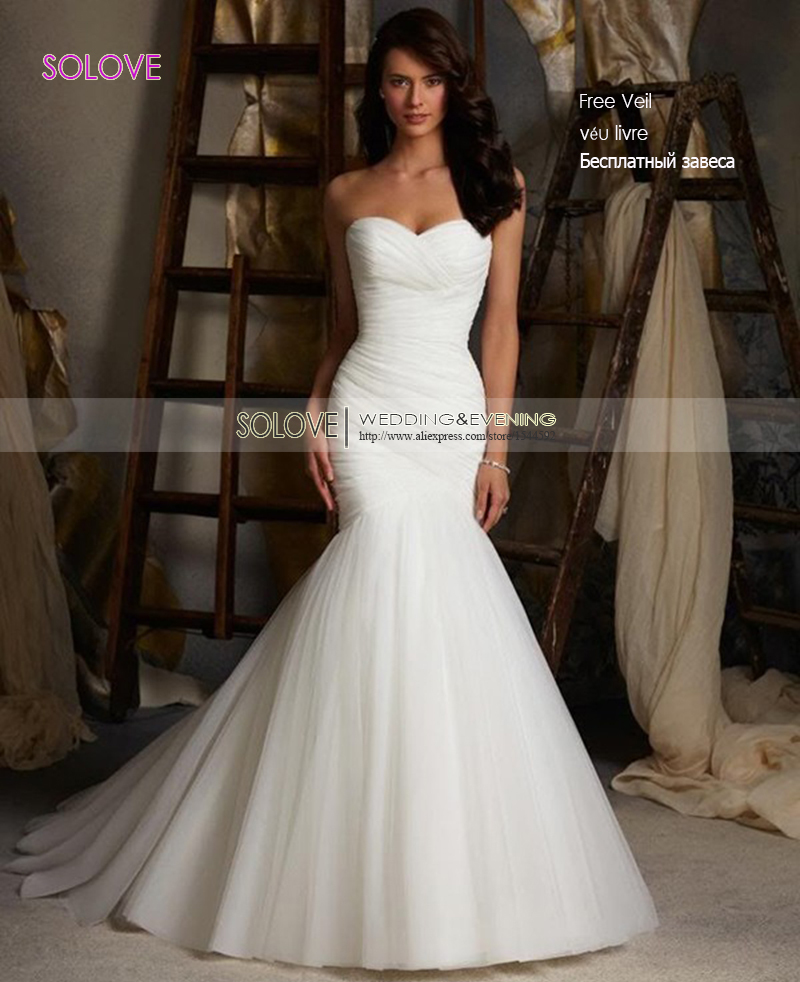 Cheap elegant mermaid wedding dress 2016 sweetheart bridal for Wedding dresses boston cheap