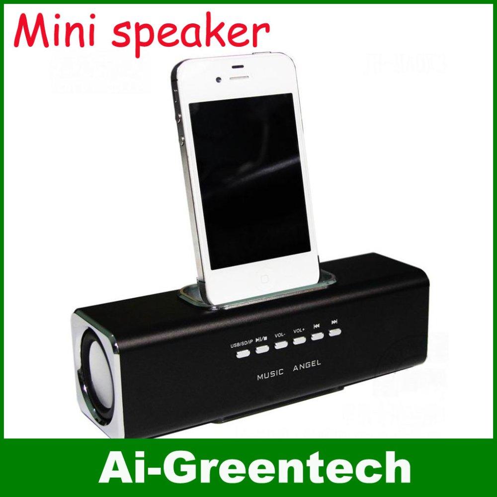 Aluminum multi-function Docking speaker iPhone/iPod, music angle portable mini speakers,docking - Sunny Happy Shop store