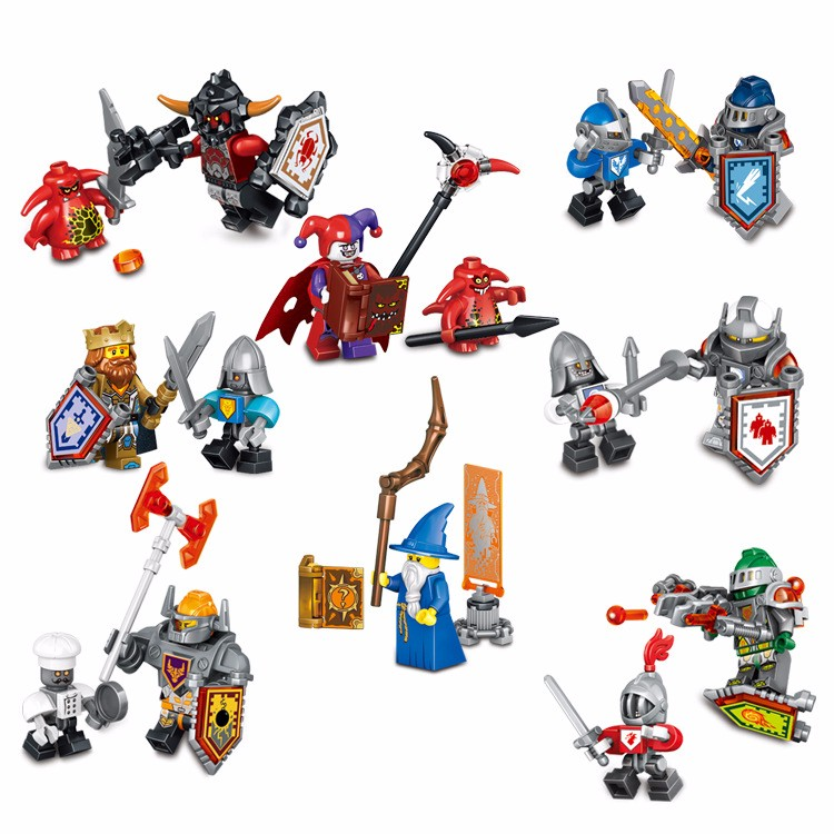 NEW Nexo Knights Future Shield Minifigures Building Blocks Castle Warrior Nexus Kids Toys Gift Compatible Legoe  -  Cy Super Toys store
