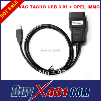 VAG TACHO USB 3.01 + OPEL IMMO Airbag Scanner OBD2 Diagnostic Connector Cable Free Shipping