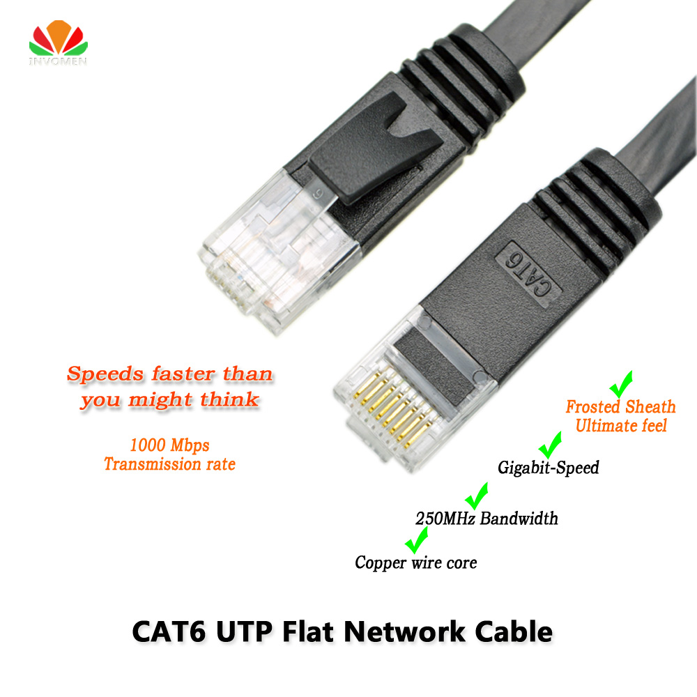33ft 10m CAT6 Ethernet cable flat UTP CAT6 network cable Gigabit Ethernet Patch Cord RJ45 network twisted pair GigE Lan cable(China (Mainland))