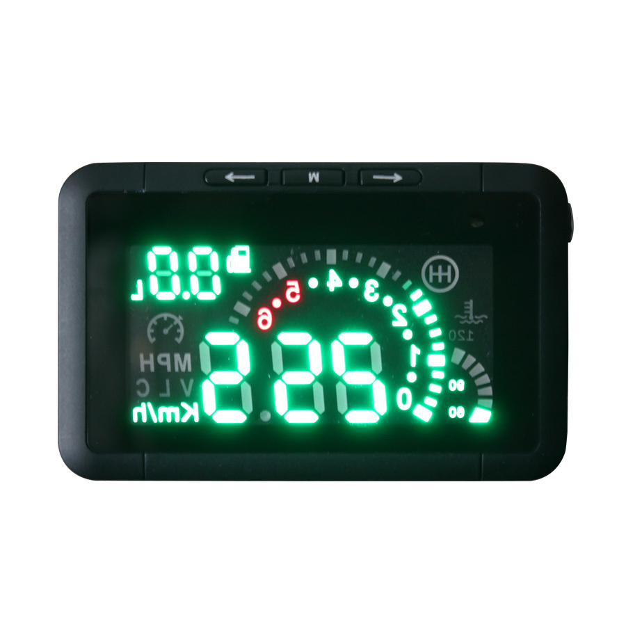 Update Version LED Car HUD Head Display OBD2 Interface Plug & Play Speeding Warn System W01 - Auto-Tools technology Co.,LTD store