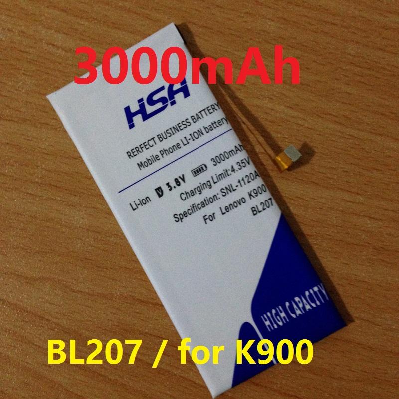 3000mAh BL207 Phone Battery for LENOVO K900 Phone