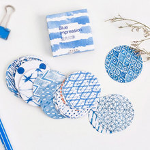 Buy 45 Pcs/box Blue Mediterranean style Mini Paper Decoration DIY Scrapbook Notebook Album Sticker Stationery Kawaii Girl Sticker for $1.00 in AliExpress store