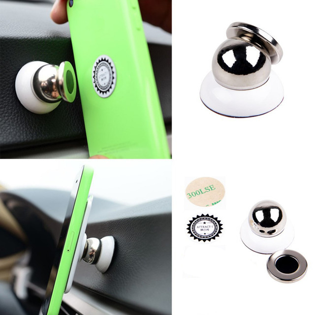 Universal Magnetic Car Phone Holder 360 Degrees Rotation Holder For iPhone 6s samsung support GPS DVR mobile phone accessories