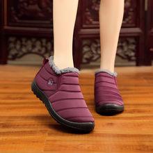 SAGACE 2019 עמיד למים נשים חורף נעלי זוג מגפי שלג חם פרווה בתוך מערכות תחתון להתחמם אמא מקרית מגפי #35(China)