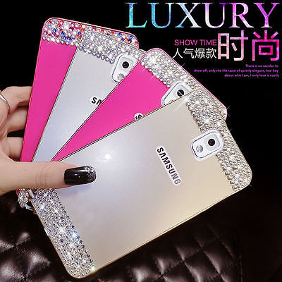 Bling crystal Metal Bumper Frame Case Back Cover For Samsung Galaxy note 4 3 N9000 S5 i9600 G900 S4 S6 S6 edge rhinestone case(China (Mainland))