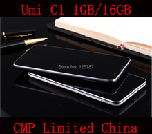 DHL Fast Delivery Free 4 Gifts Umi C1 5.5 Inch MTK6582 Quad Core Android 4.4 IPS 1280X720 1GB/16GB 13MP WCDMA 3G GPS Gsm Phone(China (Mainland))