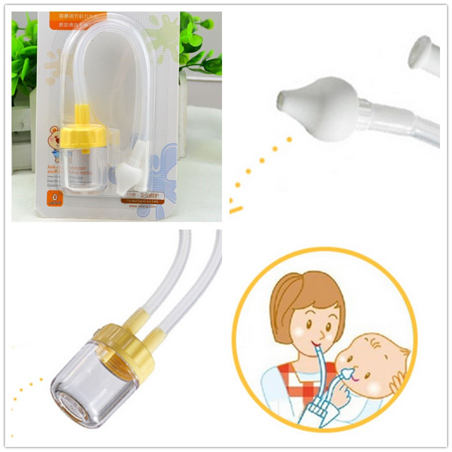 Best Quality New Born Baby Safety Nose Cleaner Vacuum Suction Nasal Aspirator(China (Mainland))