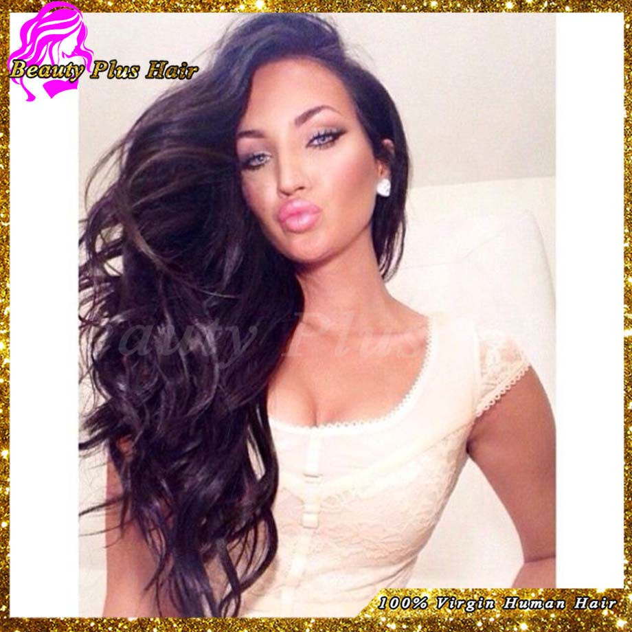 6A Best Brazilian Virgin Glueless Full Lace Wigs For Black Women Wavy Human Hair Lace Front Wigs With Baby Hair Free Shipping<br><br>Aliexpress