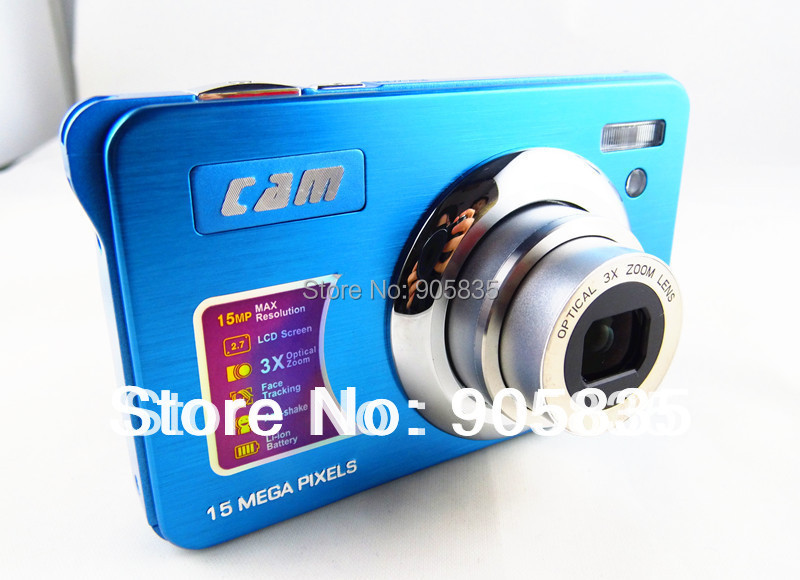 Camera photos 15MP optical zoom camera 3XOptical zoom 2.7''Screen Lithium rechargable battery Full HDMI video function(CDOK2)