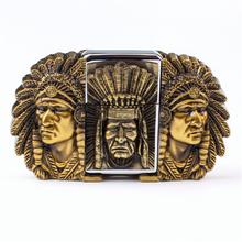 Buy Lighter belt men Kerosene lighter buckle belt head Indian chiefs metal cigarette lighter buckle belts for $7.89 in AliExpress store