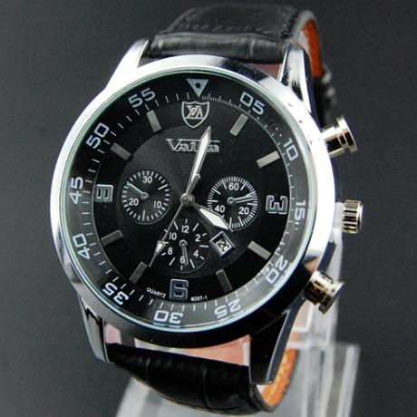2015 Leather Male Clock Watches Men Quartz digital-watch Military Army Sport Watch Luxury Brand relo