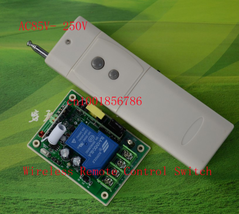 110V RF Wireless Remote Control Switch AC85V-280V 3000W Receiver Transmitter Power Switch 3000M<br><br>Aliexpress
