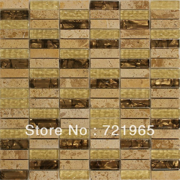 Design deco glass mosaic kitchen backsplash wall tiles SGMT035 stone glass mosaic backsplash tiles polished glass mosaic tile