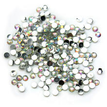 1000x 14 Facets Resin Rhinestone Gem Flat Back Crystal AB Beads 2mm DIY New Hot - daily product store