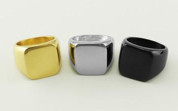 Ювелирных украшений мужской отполированный перстень прочной нержавеющей стали кольцо ...