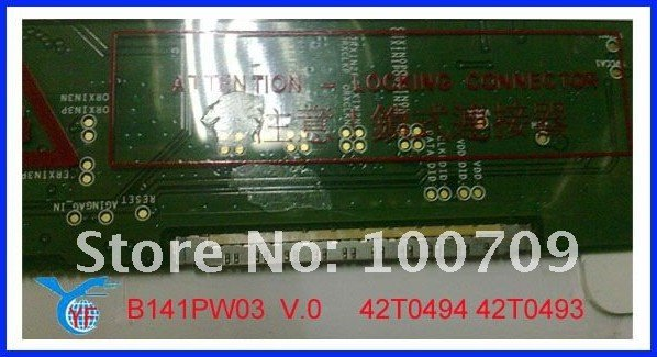 """14.1"""" Laptop LCD Screen B141PW03 V.0 42T0494 42T0493 GradeA+&Brand new for IBM T61 T61P R61 LCD to wholesale&retail(China (Mainland))"""