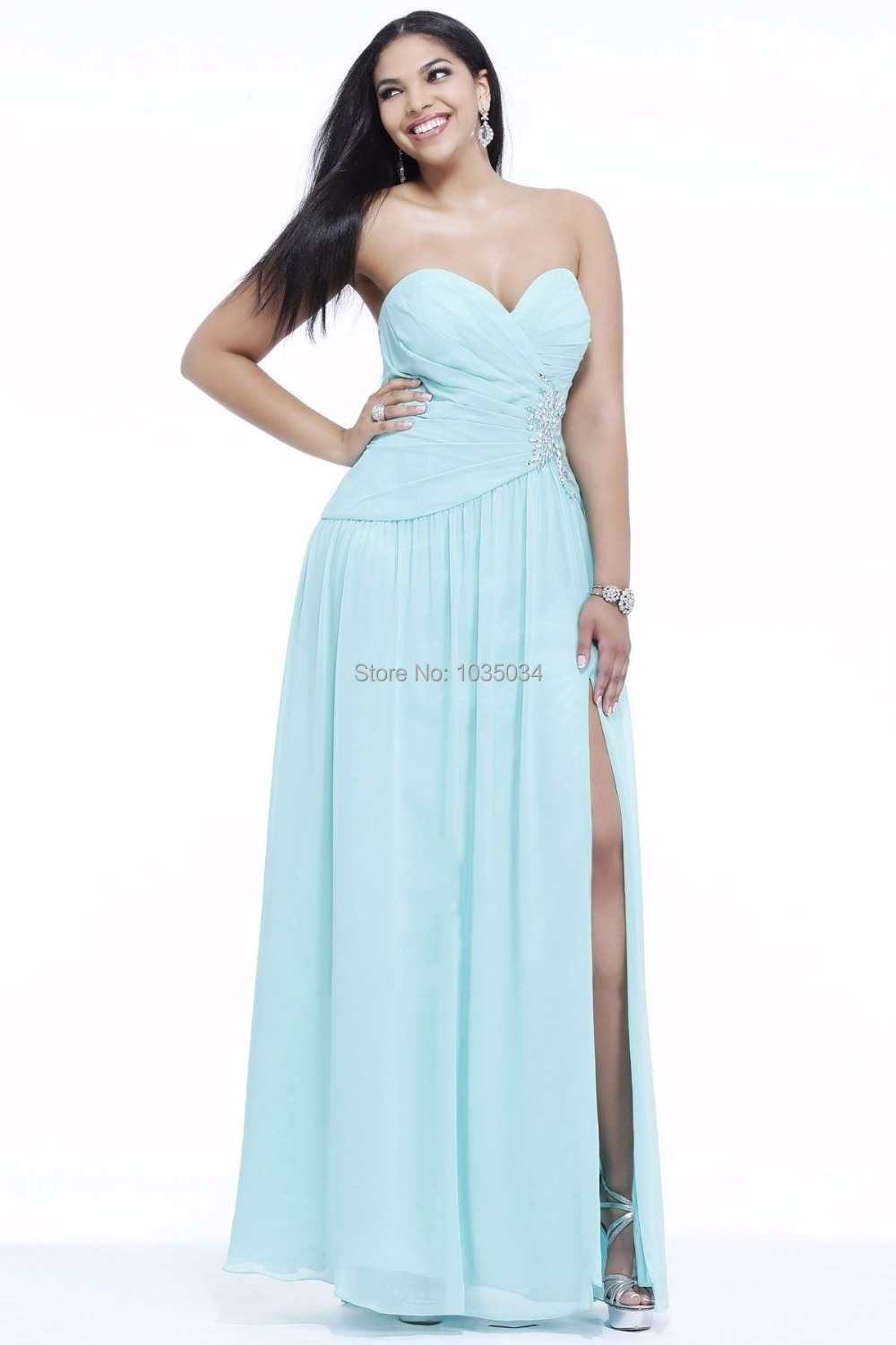 Light Blue Plus Size Dresses - Discount Evening Dresses