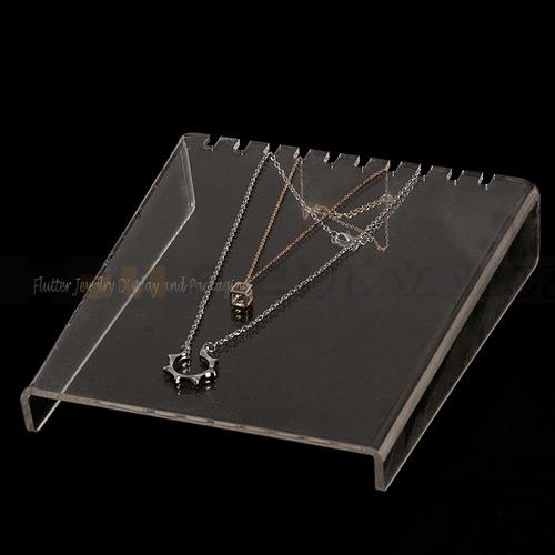 Grande taille horizontale acrylique collier pr sentoir - Porte jarretelle grande taille 6 attaches ...
