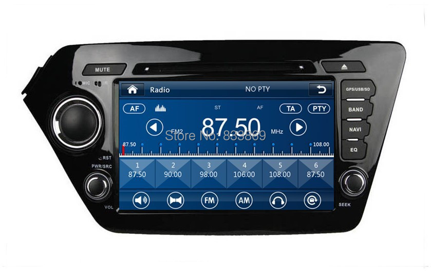 """HD 2 din 8"""" Car DVD GPS Navigation for Kia K2 /RIO 2011-2012 With3G /DVR Bluetooth IPOD TV Radio/RDS SWC AUX IN(China (Mainland))"""
