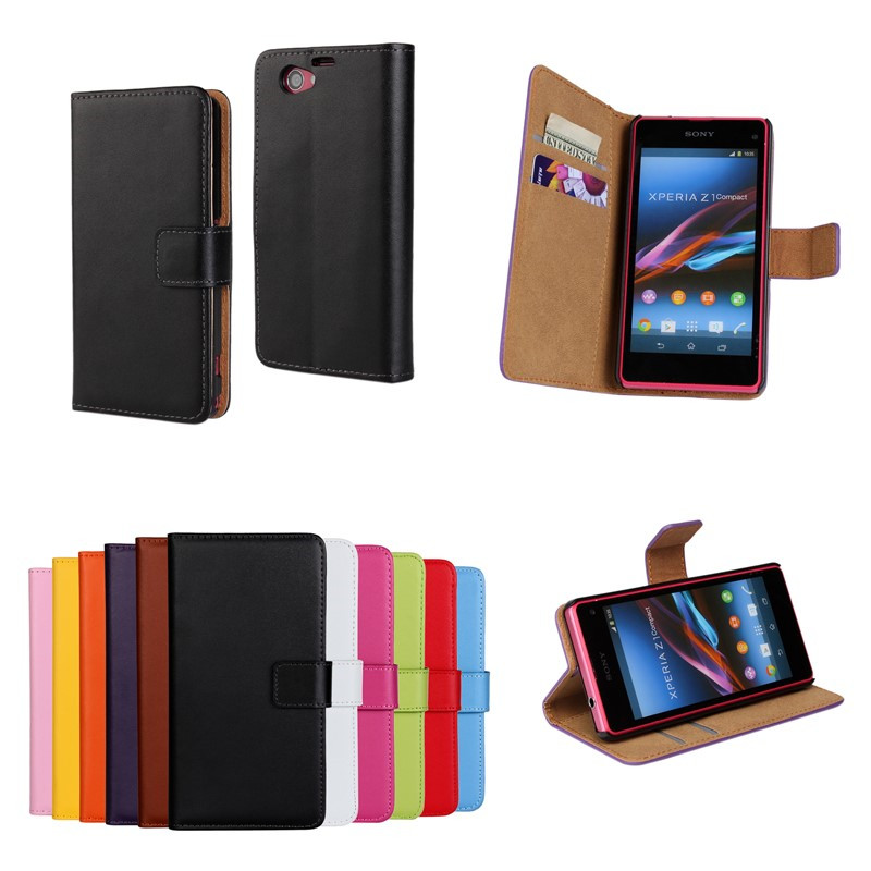 Flip Cover Case Sony Xperia Z1 Compact Slim Book Wallet Leather Mobile Phone Bag Case Shell Pouch Sony Xperia Z1 Compact