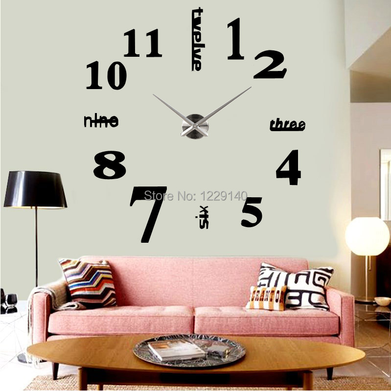 grande horloge murale loft. Black Bedroom Furniture Sets. Home Design Ideas